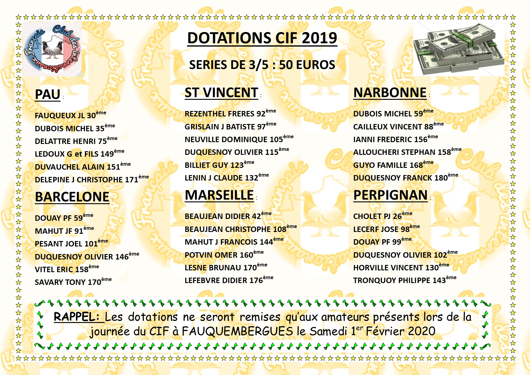 Dotation 3 5 concours 2019